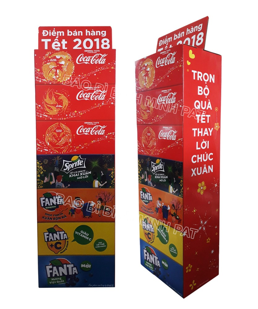 POS Cardboard Display Stand for Beverages Supermarket Retail Beverages Paper Dump Bins