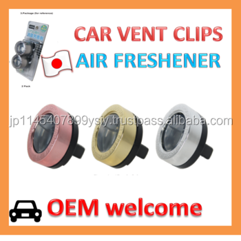 OEM Wholesale Liquid Type Air Freshener Vent Clip for Automotive AC Louvers