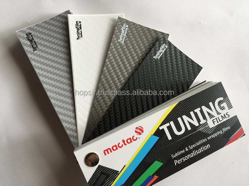 5 Year Duration MACTAC 3D Carbon Fiber Car Decoration Vinyl Sticker