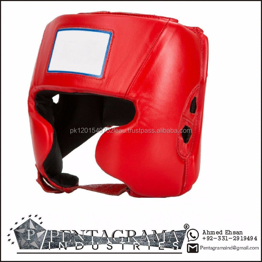 PU Boxing Head Guards /Artificial Leather Face Protection Helmet
