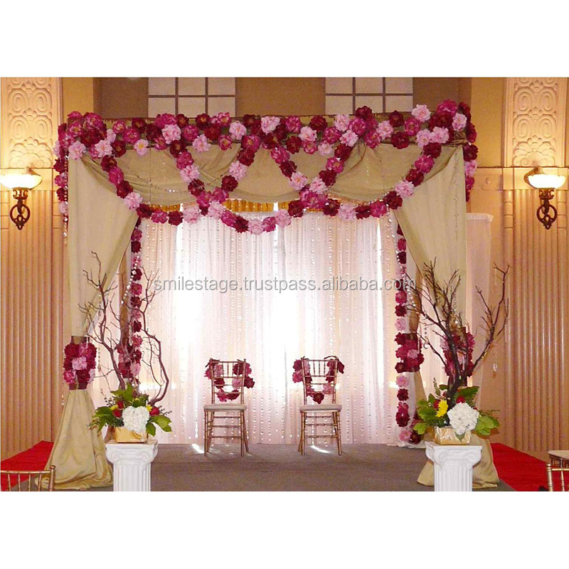 Buy Christmas Wedding Backdrop Ceiling Drape Fabric Square Pipe Railing