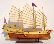 RED DRAGON WOODEN MODEL BOAT - WOODEN HANDICRAFT MODEL