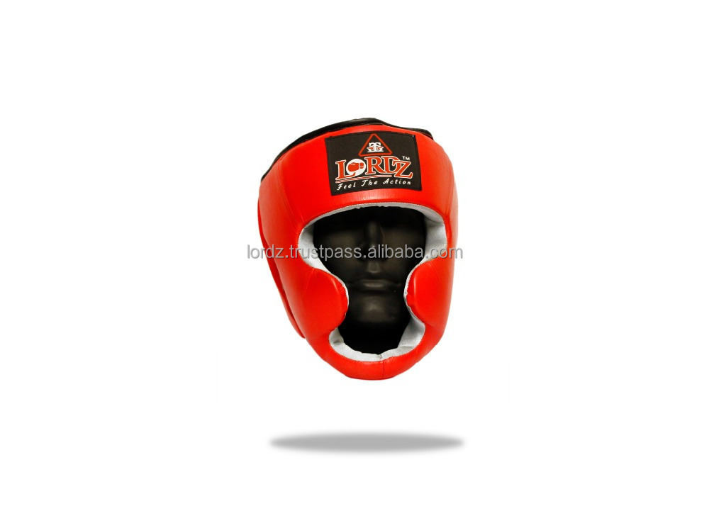 Boxing Full Coverage Headguard Top Quality Synthetic Leather Material Headguard Protection Full Cheek & Chin Protect Headgear