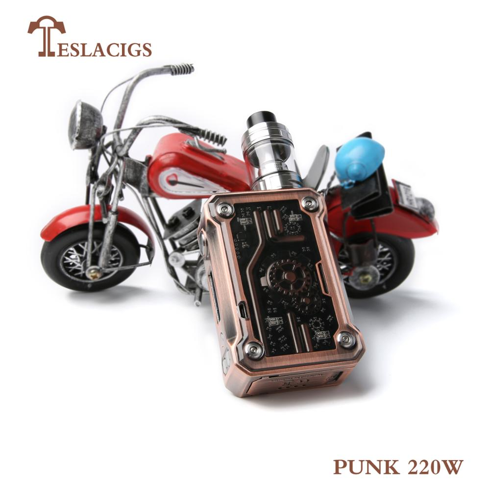 2018 Newest Teslacigs Punk 220W vape box mod vapor starter kit from teslacigs manufacturer