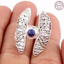 Legendary women fashion blue Lapis gemstone Jewelry silver ring manufacturer 925 silver jewelry wholesale