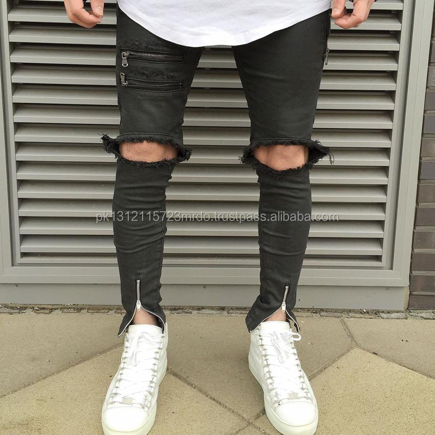 We Design for you or you Choose one, Men skinny Ripped Jeans, Denim Jeans Distressed for men.