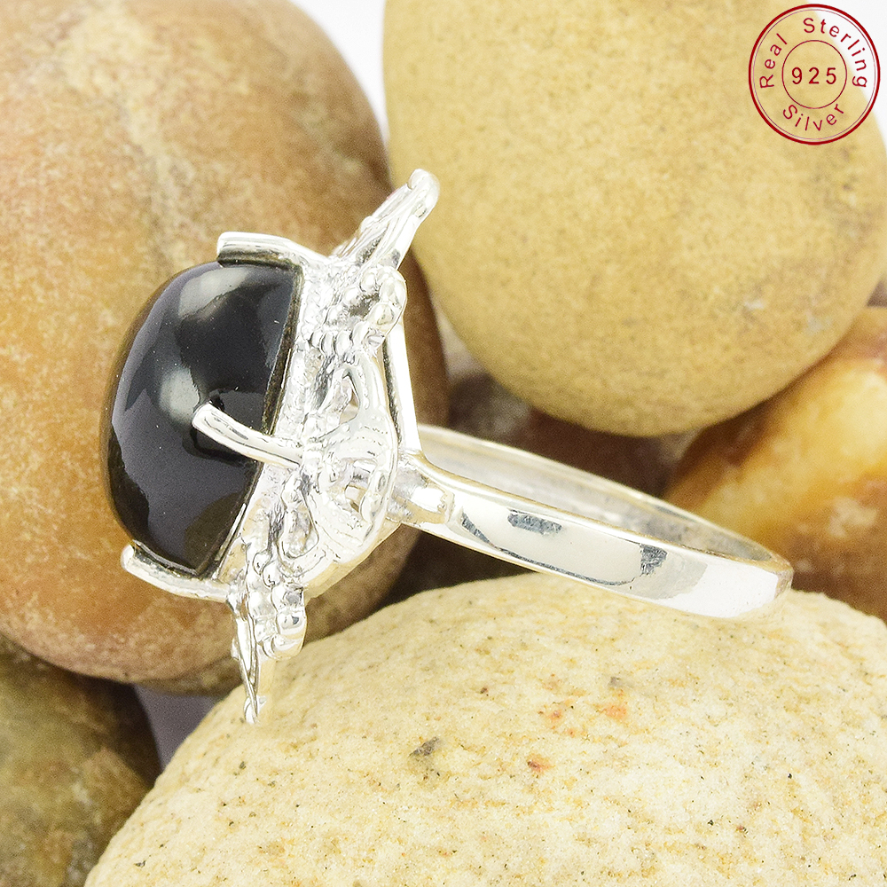 brighten Black onyx purple 925 sterling silver rings buy jaipur silver jewelry handmade indian silver jewelry supplier