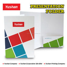 Premium Single Pocket Presentation Folder Customization and Printing, comes in flyer pocket and business card slit