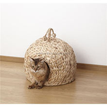 Water hyacinth cat house, indoor cat house