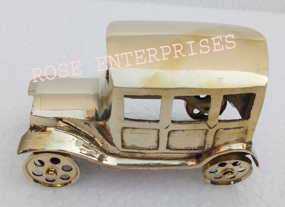 Nautical Vintage Home Decor Brass Jeep \ Model Car \ Gifted Item