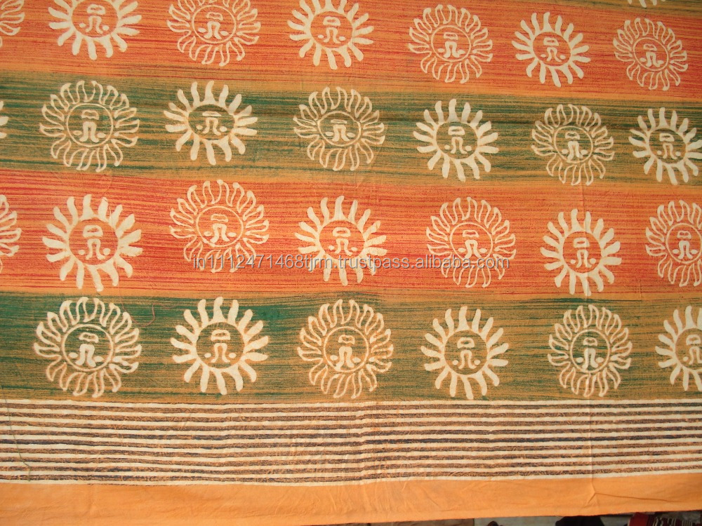 manufacturer and wholesaler Hand Blocked vegetable printed fabric