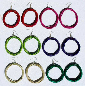 Round Color Woven Handmade Earrings Jewelry Wholesale Supplies