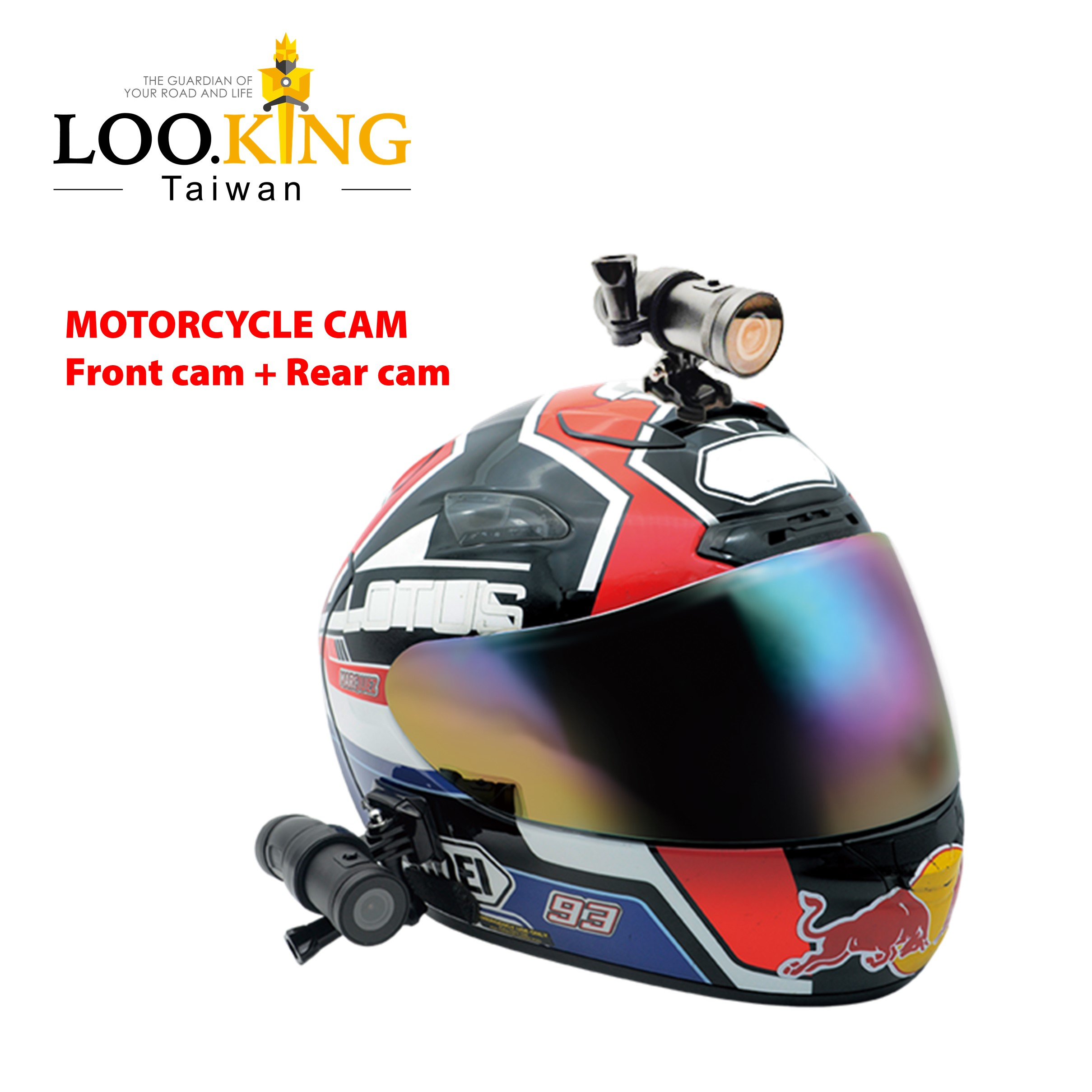 Taiwán diseño de patente cámara frontal y trasera IMX 307 de la motocicleta del casco de la cámara - ANKUX Tech Co., Ltd