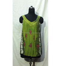 BEAUTIFUL V-NECK TIE DYE LADIES TOP WITH SEQUENCE