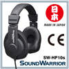 Professional Studio Monitor Headphones for accurate audio monitoring, Made in JAPAN SW-HP10s