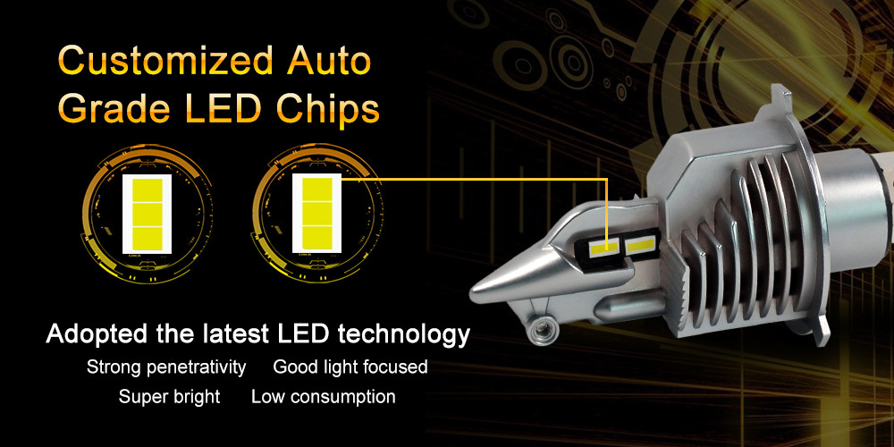 2019 Fighter 70W auto led lamp led bulb h4 d2rled headlamp for car