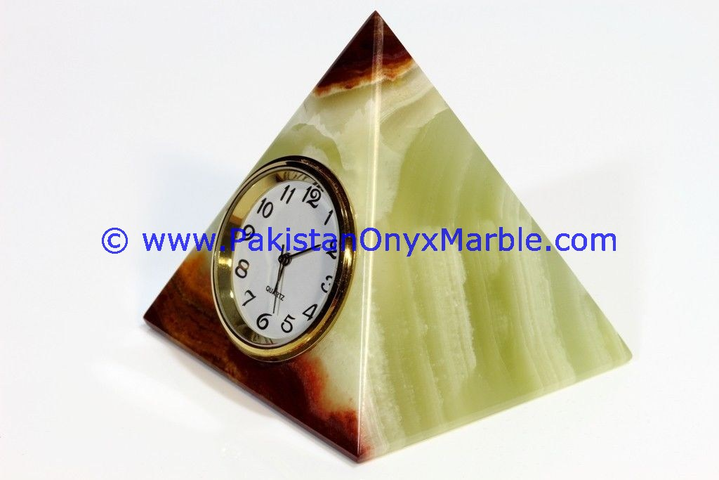 Onyx Pyramid Clock manufacture wholesaler and exporter from Pakistan
