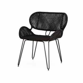 Noura Dining Chair-Black Color