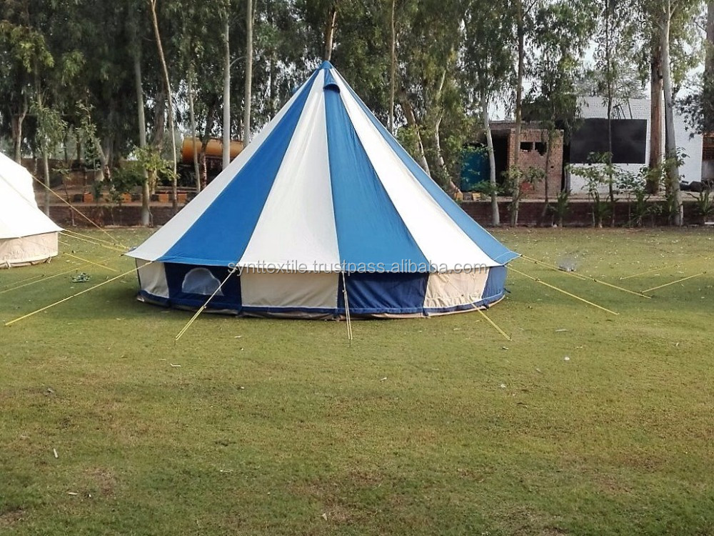 blue bell tent 100% cotton canvas water proof , mold proof , rot and fire proof
