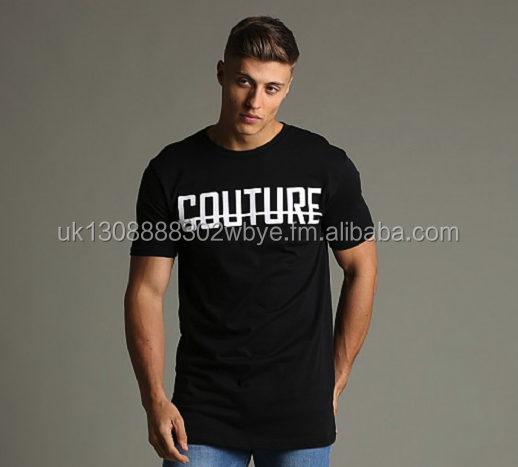 Cotton T-Shirt Mens Gym Basic Quality Cotton Muscle - British Company