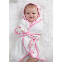 Baby infant toddler super soft square hooded bath towels RC-Ah08