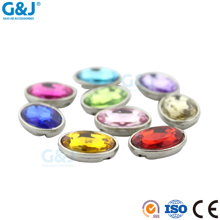 Guojie brand wholesale new design sew on bag clothing shoes round acrylic stone