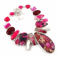 Colorful Multigem Stone 925 Sterling Silver Necklace, Silver Jewelry Wholesale, Fashion Silver Jewelry