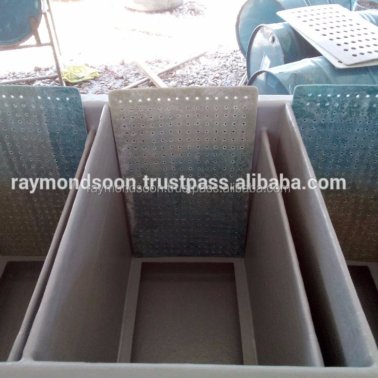 BIofilter Tank Length 6ft x Width 3ft x Height 3ft With 3 or 6 Dividers = USD 460 - 610 / Unit