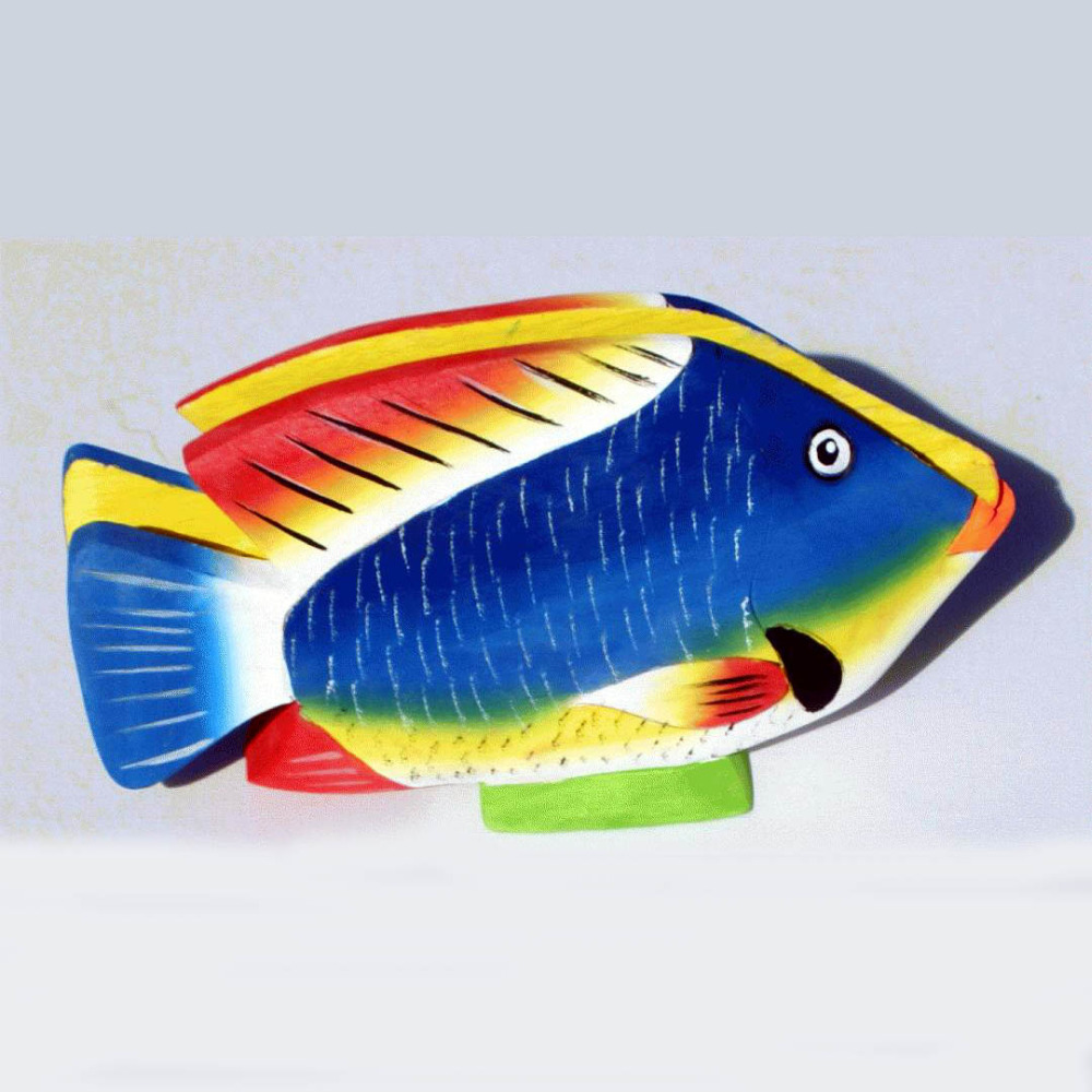 Fish Napkin Holders Colored Balsa Wood Carvings, Handmade Home Decor and Crafts for Sale