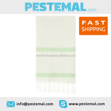 Travel Beach Towel Directly from Manufacturer Yummy Natural Peshtemal White Absorbent Pestemal
