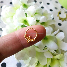 Unique Attractive Design Body Jewelry Gold Plated Non Piercing Septum Nose Ring