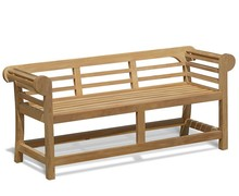 High Quality Teak Park bench Parts Frame Cushion low back Indonesia Furniture