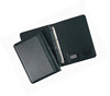 Multi functional black genuine leather conference folder / a4 Size leather conference folder / leather portfolio
