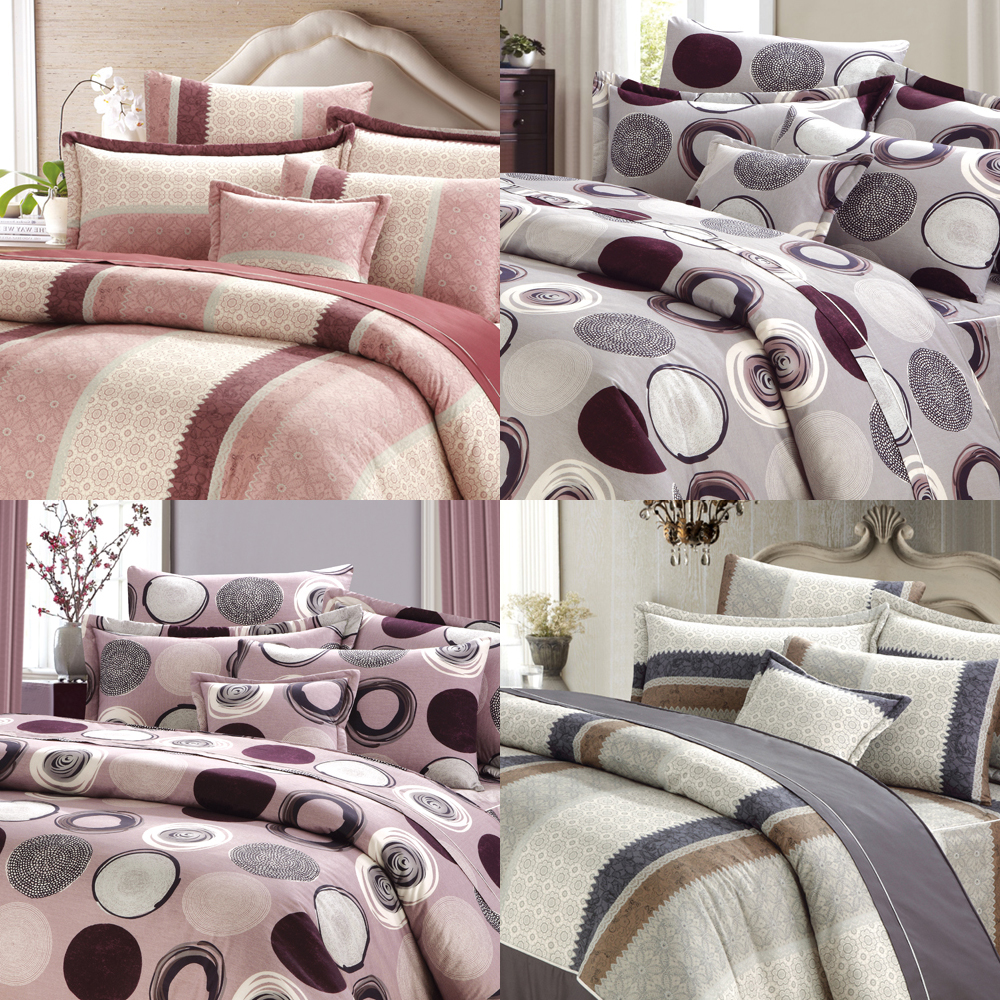 Patchwork patterned bamboo baby crib bedding set