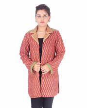 Vintage Indian Long Size kantha handmade Jacket Winter Cotton Quilted Coat reversible Womens jackets
