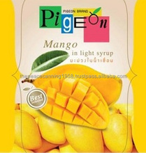Canned Mango Fruit Slices in Syrup Thailand