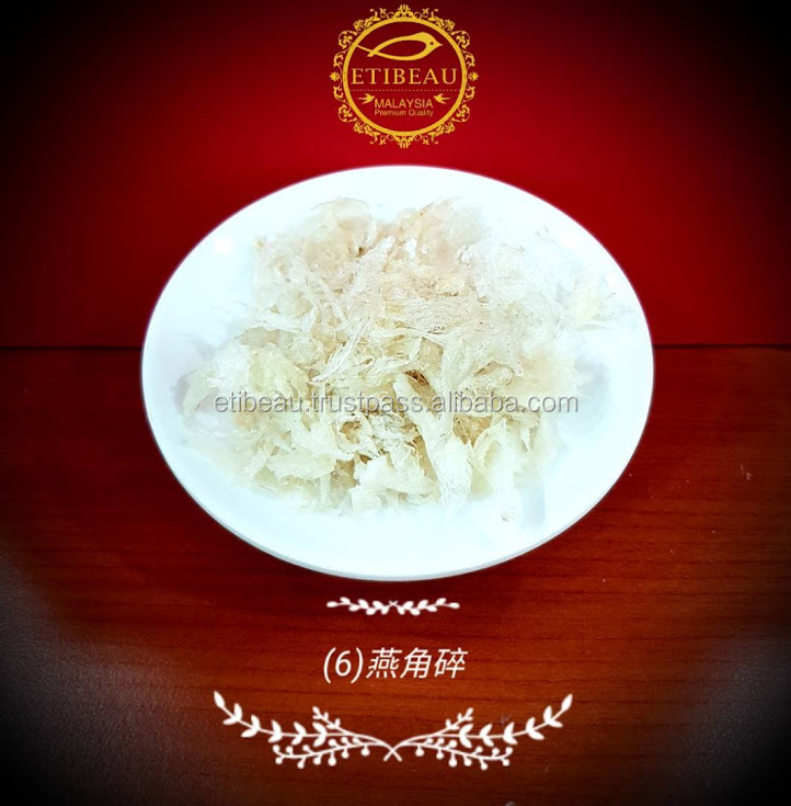 Edible Fragmented Swallow Bird Nest Malaysia with no additive gurantee