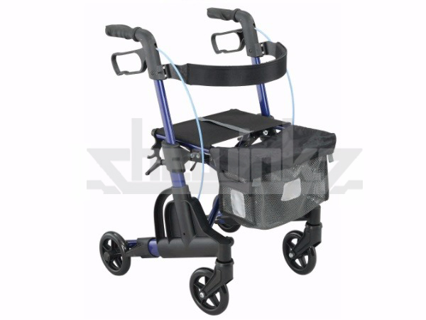 Economical aluminum folding rollator walker with seat