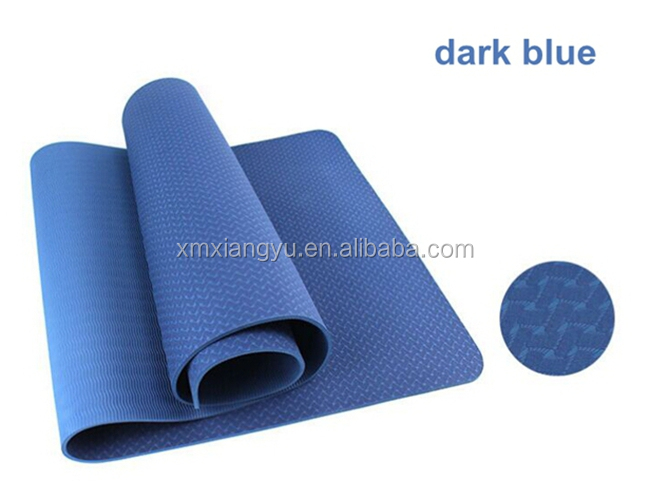 high density anti-fatigue 6MM single layer tpe yoga mat