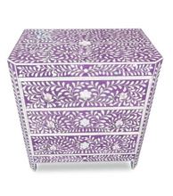 Bone Inlay 3 drawers chest of Drawers