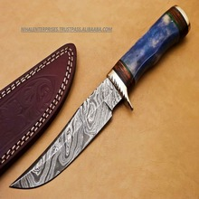 FULL HAND MADE FORGED DAMASCUS STEEL HUNTING KNIFE