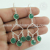 Wedding fashion design earring green onyx gemstone 925 sterling silver earrings jewelry manufacturing