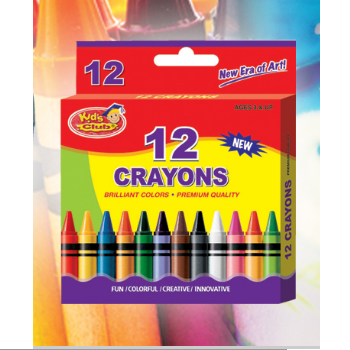 Kids Club 12 Crayons Box