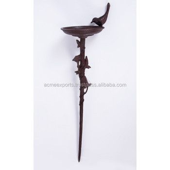 Cast Iron Bird Bath For Sale | Garden Ornament Bird Bath | Bird Bath Stand | Outdoor Bird Bath Stand