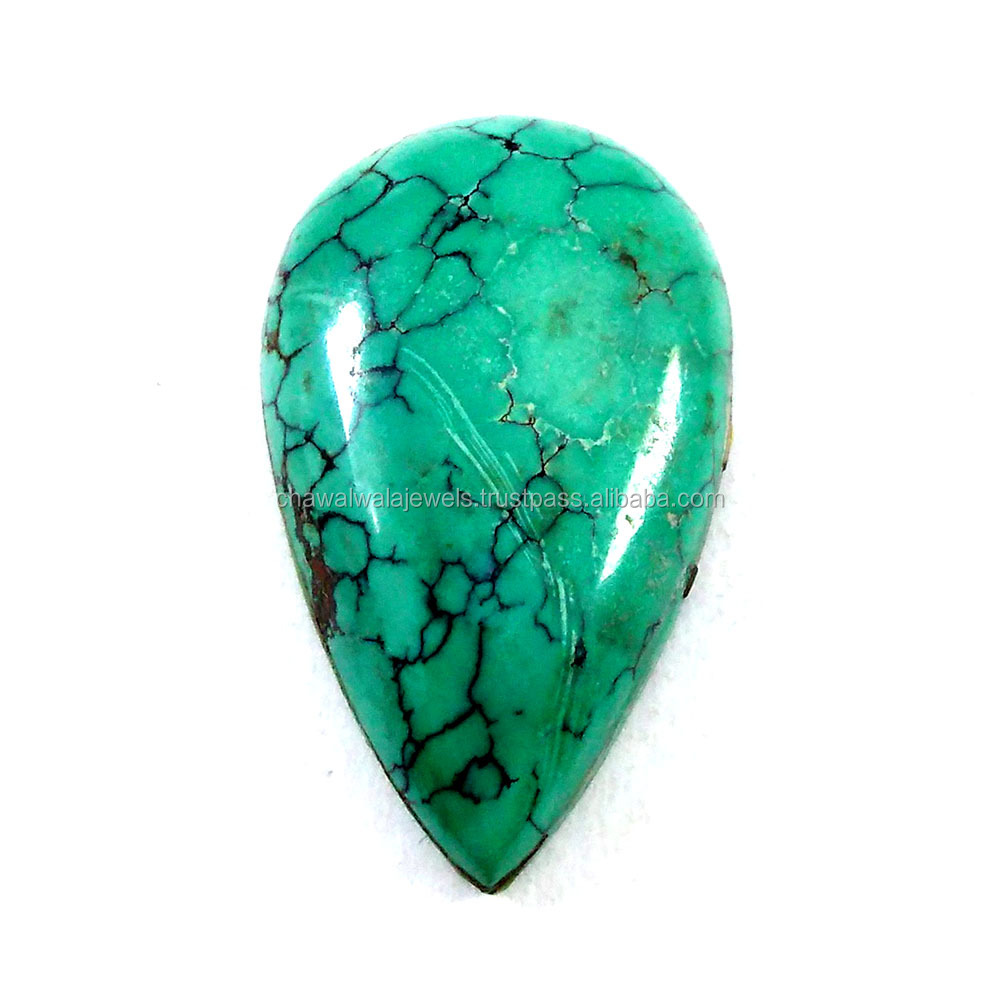 20x33 mm Semi Precious Stone Blue Turquoise Pear cabochon Loose Gemstone
