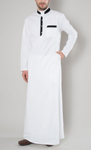 White Premium Casual Thobe - Thawb - Cotton Blend Jubbah