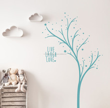 Knuvo 370*970mm Decoration Blue Kids Rooms Cheap Wall Stickers for Child Room