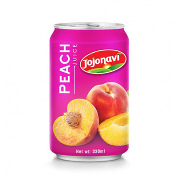 OEM Fruit Juice Peach juice in canned 330ml fruit juice brands
