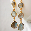 925 sterling silver Labradorite Gemstone Earrings Vermeil Gold Plated Handmade Beautiful Designer Jewelry