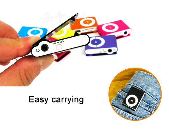 MINI clip En Métal USD Lecteur MP3 avec Micro TF/carte Sd avec le mini MP3